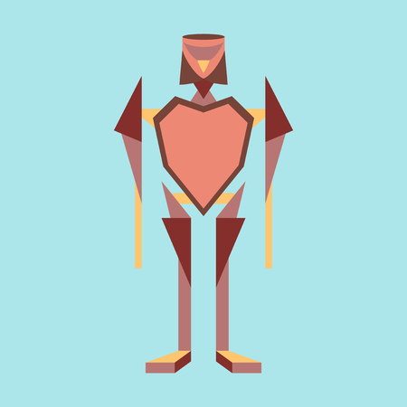 Icon in flat design Toy robot