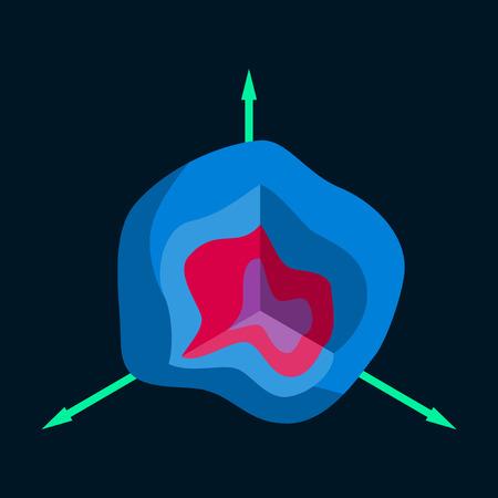 flat icon on stylish background graph Illustration