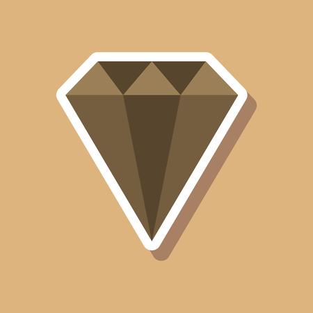 paper sticker on stylish background diamond jewelery Reklamní fotografie - 90928068
