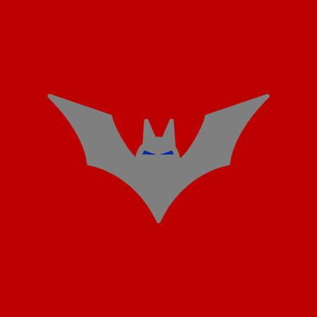 flat icon on background halloween bat Illustration