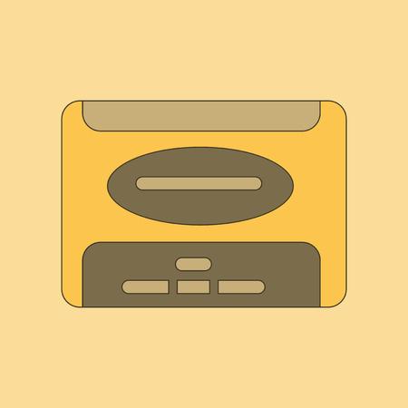 flat illustration on background removable hard drive Illustration