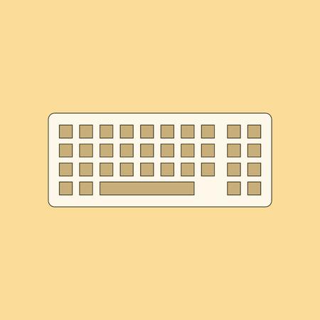 Icône plate sur le clavier de l'ordinateur de fond Banque d'images - 90662202