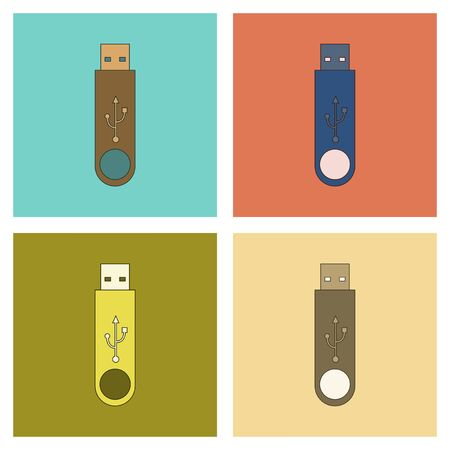 assembly flat icon flash drive