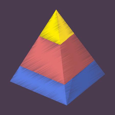 flat shading style icon Economic pyramid