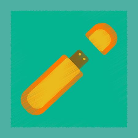 flat shading style icon flash drive  イラスト・ベクター素材