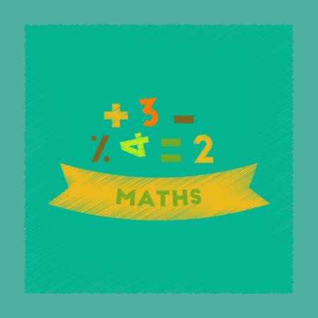 flat shading style icon math lesson