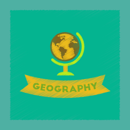 flat shading style icon geography lesson