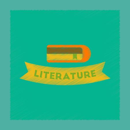 flat shading style icon Literature lesson Ilustração