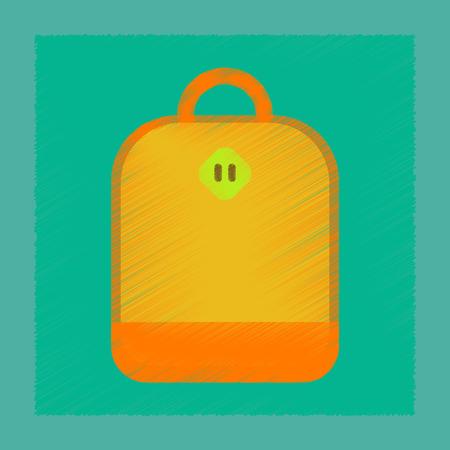 flat shading style icon school bag