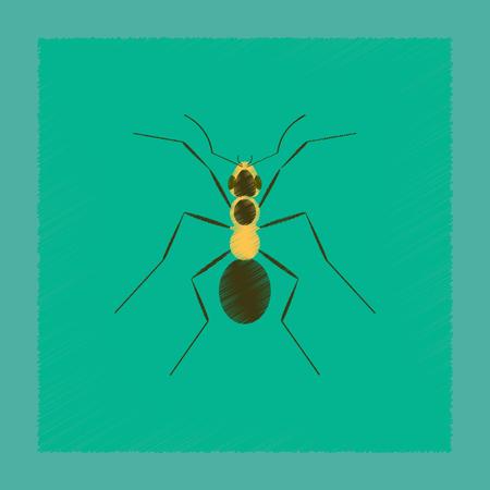 vlakke arcering stijl illustratie cartoon mier