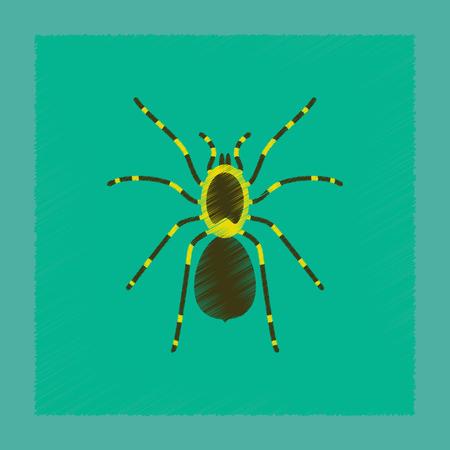 Illustration de style d'ombre plate tarentule d'araignée Banque d'images - 90905247