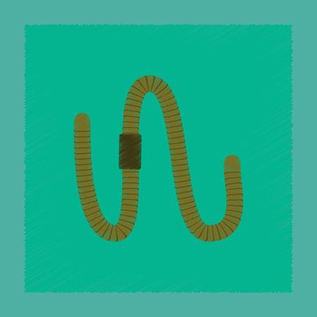 flat shading style illustration worm Illustration