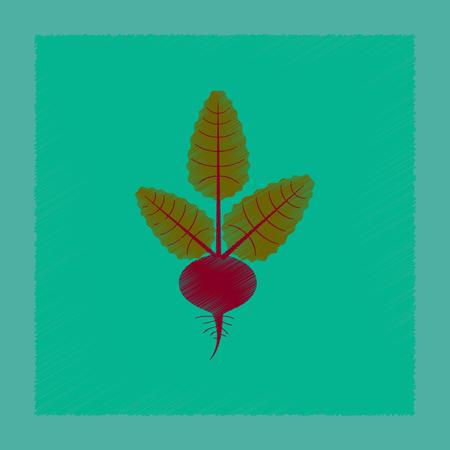 flat shading style illustration plant beta Illusztráció