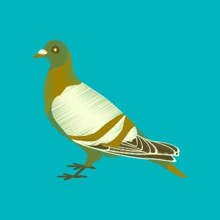 flat shading style icon dove