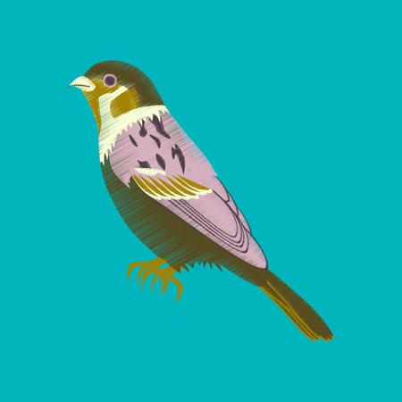 flat shading style icon sparrow 矢量图像