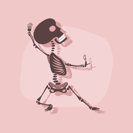 Paper sticker on stylish background skeleton halloween monster stock vector 91322681