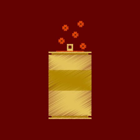 Vlakke arcering stijl pictogram pixel blikje frisdrank Stock Illustratie