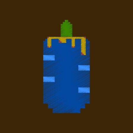 Vlakke arcering stijl pictogram pixel Franse hotdog