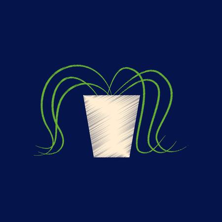Vlakke arcering stijl pictogram plant in een pot.