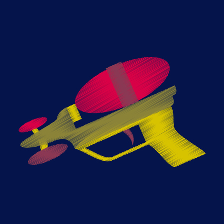flat shading style icon Toy gun watergun