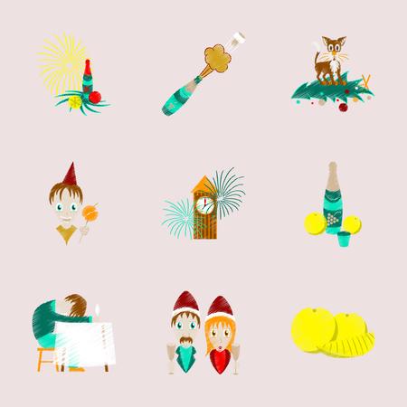 Christmas symbols icon.