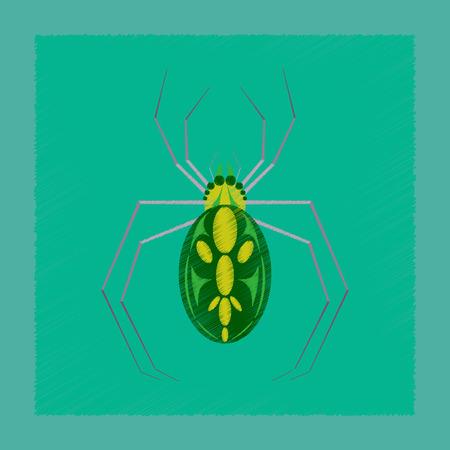 Vlakke arcering stijl pictogram halloween spin Stock Illustratie