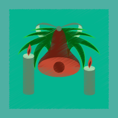 Flat shading style icon Christmas bell
