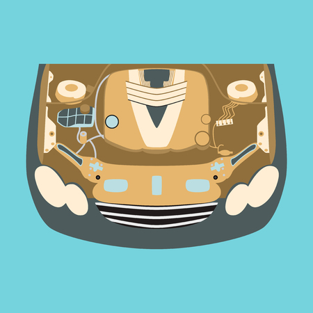 Car motor Illustration