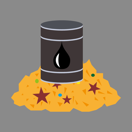 flat icon on theme Arabic business oil and gold