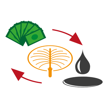 flat icon on theme Arabic business sale of oil