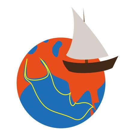 flat icon on theme Arabic business silk road Illustration