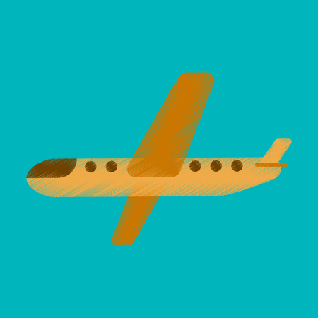 Flat Icon in Shading Style aircraft