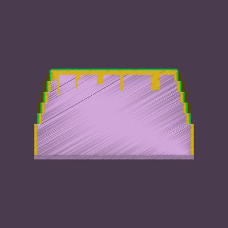 flat shading style icon pixel tacos