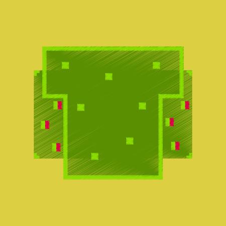 Flat shading style icon pixel burger. Фото со стока - 91781034