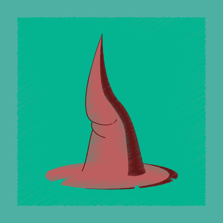 flat shading style icon witch hat