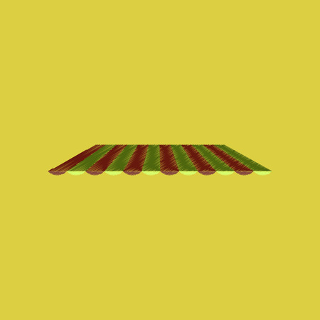 A flat shading style icon Roof awning tent Illustration