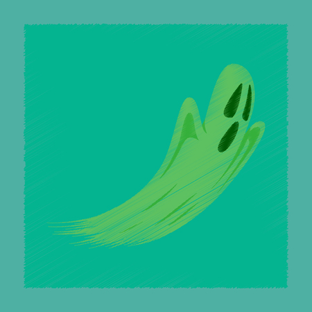 flat shading style icon of ghost