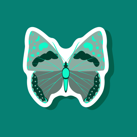 butterfly paper sticker on stylish background insect