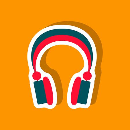 Paper sticker technology gadget headphones