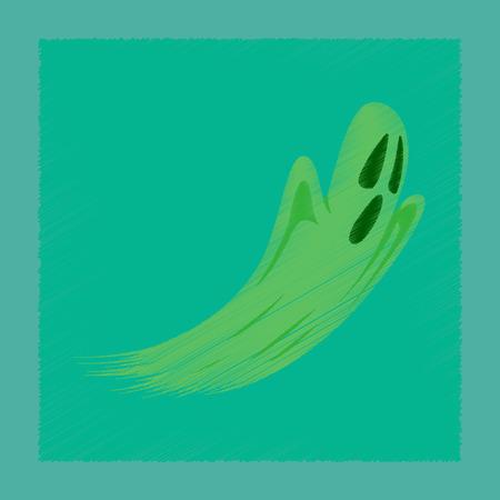 Flat shading style icon ghost. Illustration