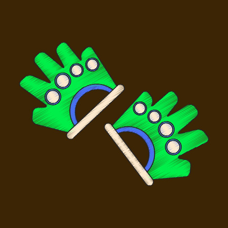 Flat shading style icon Gloves for the gym