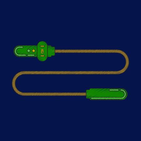 flat shading style icon Jump Rope