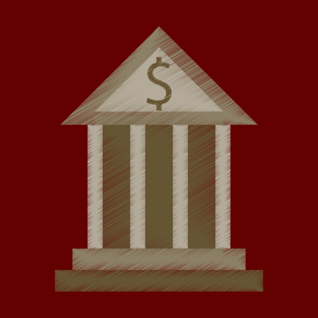 flat shading style icon business bank building Stock Illustratie