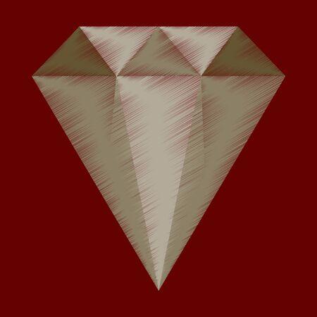 Flat shading style icon diamond expensive jewelry Reklamní fotografie