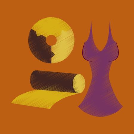 Flat shading style icon of Fabric diagram