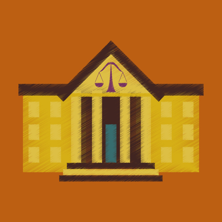 flat shading style icon courthouse Illustration