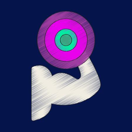 Flat shading style icon bicep.