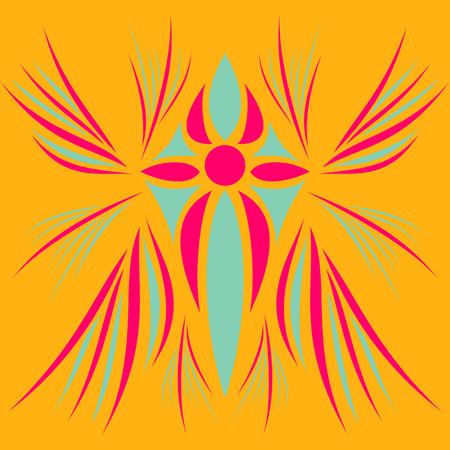 Abstract flower. Oriental pattern Stock Illustratie