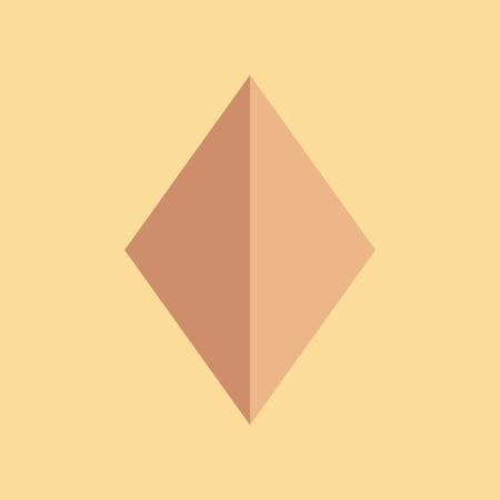 Icono plano de diamante en el fondo de color . Foto de archivo - 96037383
