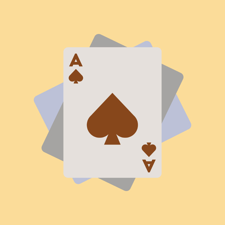 Flat icon poker playing cards Illustration
